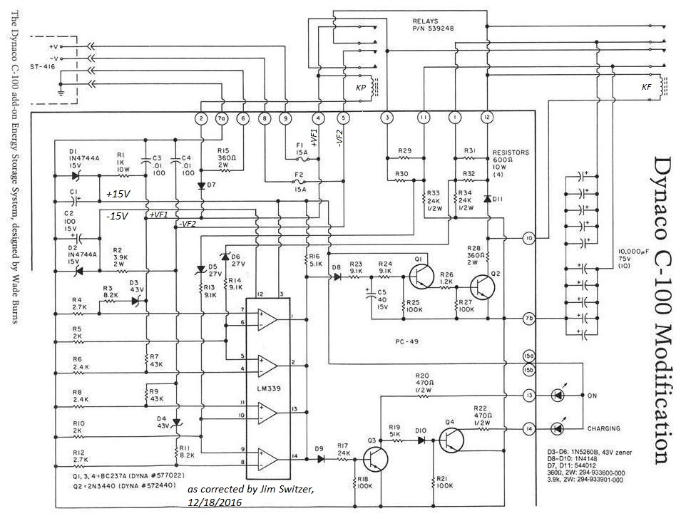 C-100 Capacitor Bank Schematic, corrected