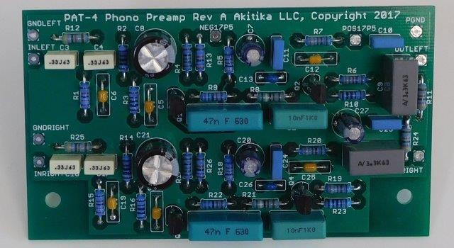 assembled phono preamp for PAT-4
