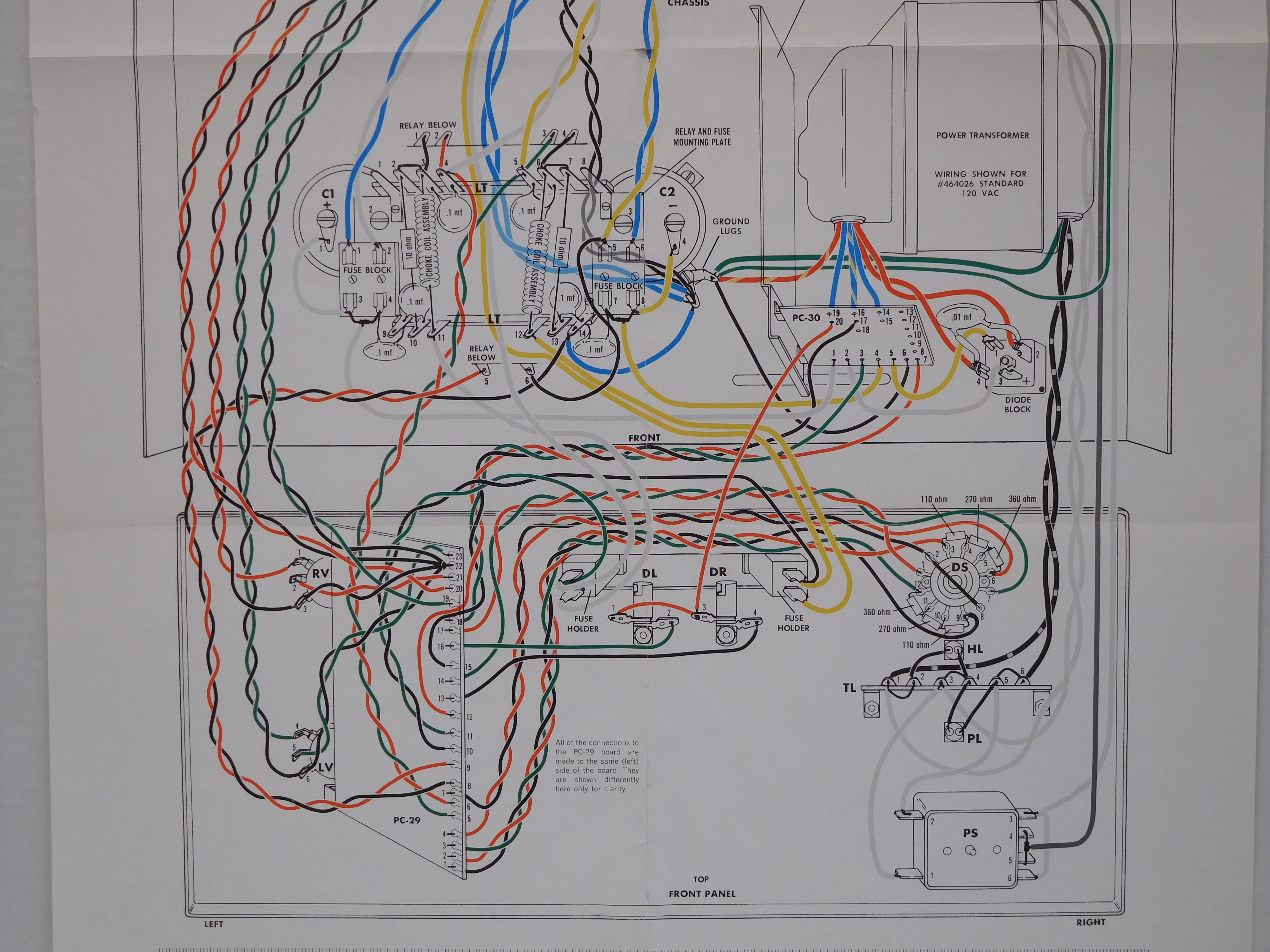 stereo and  picture of the bottom half of the wiring diagram