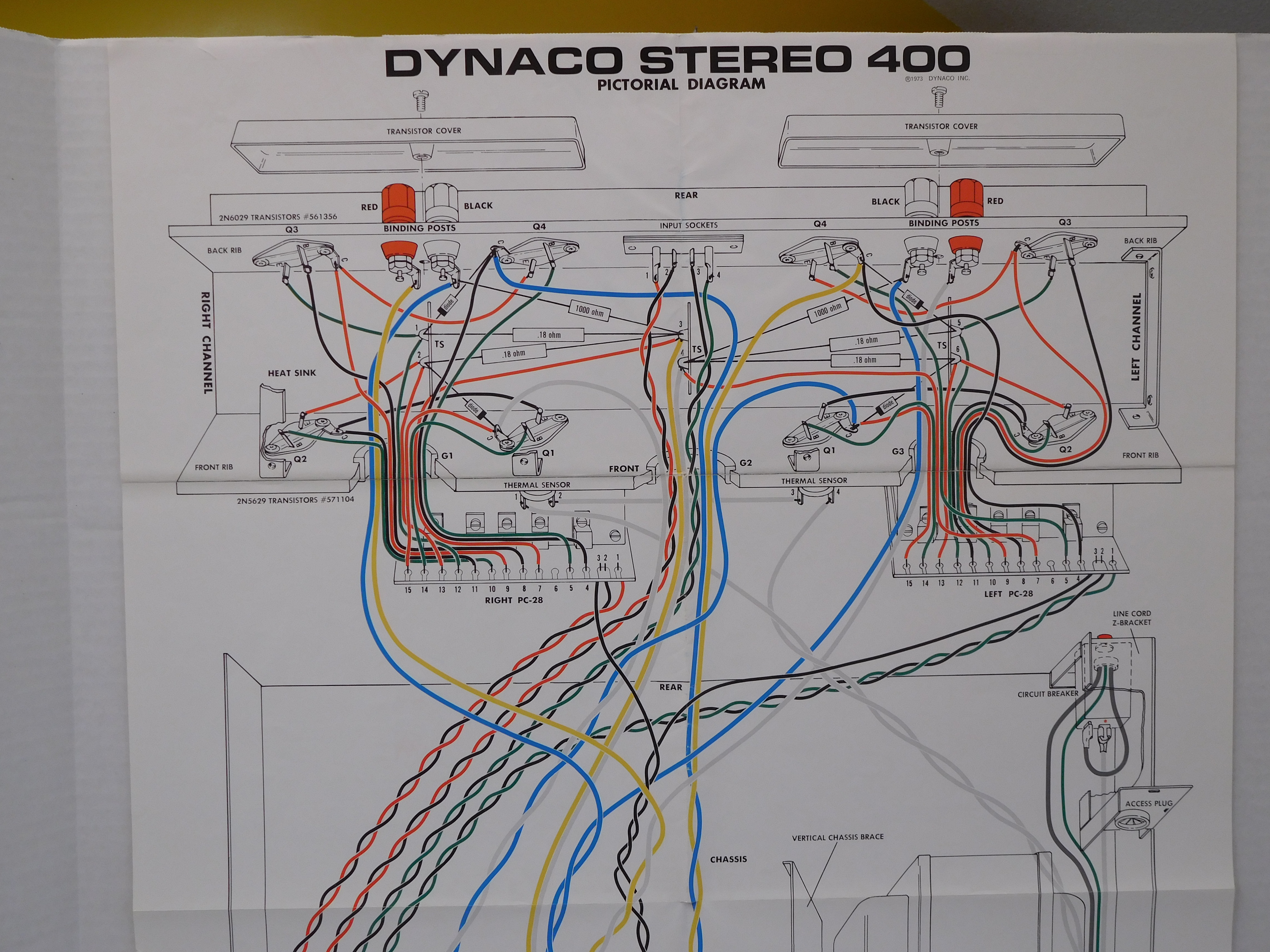 stereo and  picture of the top half of the wiring diagram