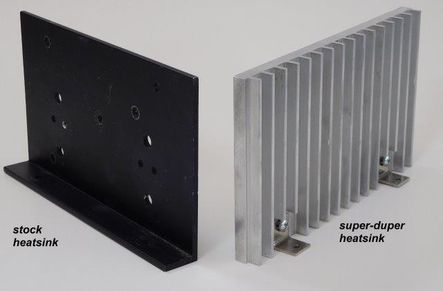 Super Duper Heatsinks...more metal more area...more power with less temperature rise