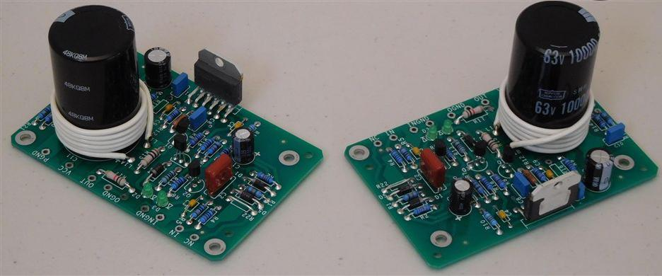 Assembled Pair of amplifier modules.