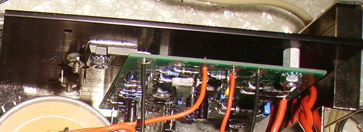 detail showing TO-3 left on power supply heat sink