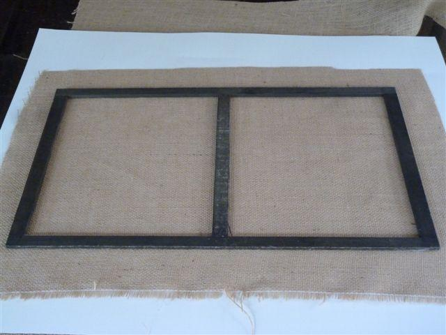 frame with grill cloth cut to size