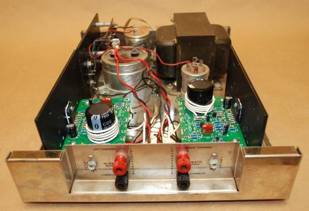 Inside of an updated amplifier