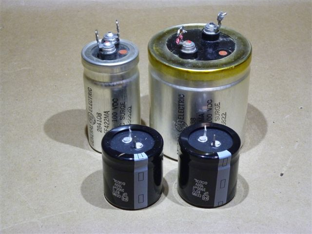 new capacitors and old